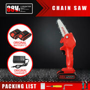1080w Cordless One-hand Saw Woodworking Electric Chain Saw Wood Cutter 2x Batter