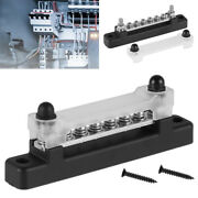 12 V Auto And Marine 6 Way Bus Bar Power Distribution Earthing Block 150a Rated