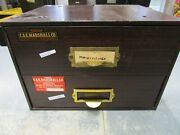 C. And E. Marshall Metal 2-drawer Watchmaker Cabinet Bench Repair Tool Organizer