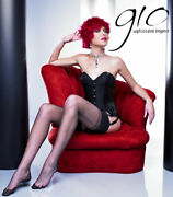 Gio Fully Fashioned Stockings - Classic Black - Imperfects From Nylonz