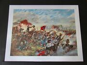 Don Troiani - The Barksdale Charge - Hand Signed - Civil War Print - P/p - Mint