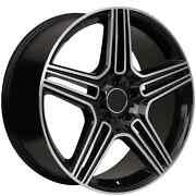 20 Staggered Mercedes Benz Machined/black Replica Wheels Rims 975