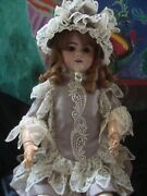 Antique French Doll 25, Early Sfbj Depose, Bisque Head Composition Jointed Body
