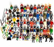 108 Playmobil Mixed Lot People Figures Animals Parts Pieces Accessories Geobra