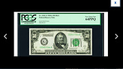 A Chicago Gold Clause 50 1928a Dark Green Seal Fed Pcgs Very Choice New 64ppq