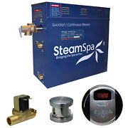 Steamspa Oa750-a Oasis 7.5 Kw Quickstart Acu-steam Bath Generator - Nickel
