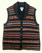Womenand039s Vintage Pendleton Knockabouts 1960and039s Navajo Knit Vest Size Large Euc