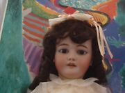 Large Antique German Doll 32 Simon And Halbig 1079, Ball Jointed Composition Body