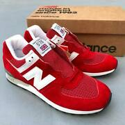 Men 9.5us Made In Ukbalance M576rr Red White 30th Anniversary Collection Us9.5d