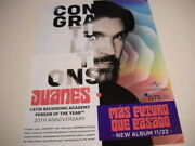 Juanes Is Latin Recording Academy Person Of Year 2019 Promo Poster Ad Mint Cond.