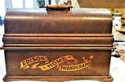 Edison Home Model A Cylinder Phonograph W/model C Reproducer And Original Horn