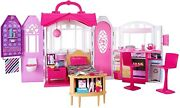 New Mattel barbie Glam Getaway Doll House Furnished On-the-go Carrying Handle