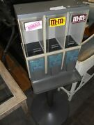 Vendstar 3000 3 In 1 Gray Candy Gumball Vending Machine