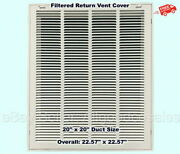 Return Vent Cover 20 X 20 Duct Size Filtered Air Grille Ceiling Wall White