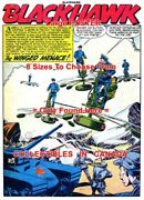 Blackhawk 1956 Aerocycle Helicopter Motorcycle =poster Comic Book 8sizes 17-3ft