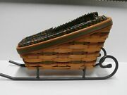 Longaberger 1997 Holiday Sleigh Basket Combo With Wrought Iron Runners - Up