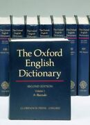 The Oxford English Dictionary Volume 1-20 20 Volume Set Hardcover Used - V
