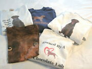 Mens T And Sweat Shirts Chocolate Labs Size Large Dogs Lot Of 5