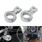 1.25and039and039 Turn Signal Light Mount Brackets For Harley Flhx Flhp Street Bike Racing