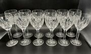 Set Or 12 Signed Waterford Cut Crystal Ballymore 7-1/2 Water / Wine Goblets