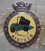 Old Heavy Chrome Car Mascot Badge C1960 Aintree Race Track By J R Gaunt