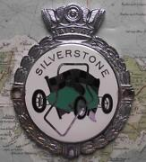 Old Heavy Chrome Car Mascot Badge C1960 Silverstone Race Track By J R Gaunt
