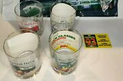 1996 Hess Toy Truck Glasses Collectorandrsquos Series Mint With Card Inserts Bag Nfl...