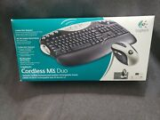 New Logitech Cordless Mx Duo Desktop - Keyboard And Mouse Mac/pc Highly Rated