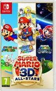 Super Mario 3d All-stars Video Game For Nintendo Switch Brand New Sealed