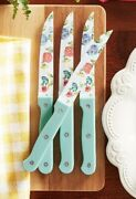 🌺 The Pioneer Woman Set 0f 4 Steak Knives In Blooming Bouquet Design Vhtf