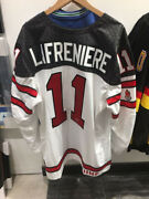 Alexis Lafreniere Team Canada White Nike Jersey Signed With Coa From Upper Deck