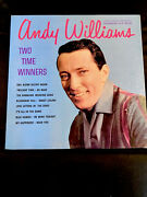 Andy Williams Two Time Winners Original Vintage Vinyl Lp Album Record... 535a