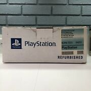 Sony Playstation 1 Ps1 Rare Sony Refurbished Packaging Collectible Read Desc.