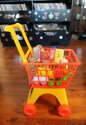 Vintage Sears Pre-school Shopping Cart With Groceries Child Toy Original Box