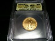 2007-w Gold 1/4 Oz Burnished Eagle 10 Icg Sp70 First Strike Coin.