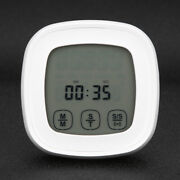 White Touch Screen Barbecue Thermometer Temperature Gauge Kitchen Food Cooking A