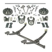50 Inch Gasser Ford Axle/spindle/brake Kit Wilwood Forged Calipers