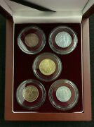 Rare Ww2 German Coins In Secure Capsules In Display Box - Historical Artifacts