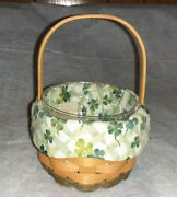 Longaberger Basket 2001 Lucky You St Patricks Day Combo Basket Liner And Protector