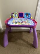 Vtech Touch And Learn Activity Desk Deluxe - Pink And Purple
