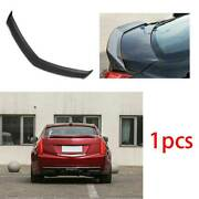 Fit For Cadillac Ats 2013-2020 Abs Carbon V Type Rear Boot Spoiler Wing Flap 1pc
