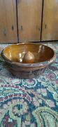 Antique Early 19th C Redware Stoneware Crock Mold Half Glazed Best Surface 6
