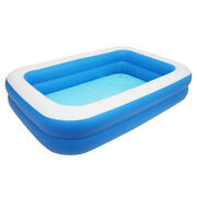 120 Inch Inflatable Above Ground Swimming Pool Kids Rectangular Paddling Pools