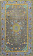 Antique Geometric Hand-knotted Tebriz Area Rug Gray Oriental Wool 9x14 Ft Carpet