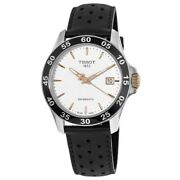 New Tissot V8 Automatic Silver Dial Black Menand039s Watch T106.407.26.031.00