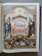 Rare Antique Pictorial Family Bible 1890 Aj Holman And Co - Great Condition