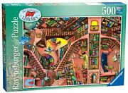 Ravensburger Colin Thompson The Ludicrous Library 500 Pc Puzzle - New - Rare