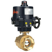 Dynaquip Controls Ehh2aate01 3 Fnpt Brass Electronic Ball Valve 2-way