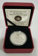 2013 Canadian Mint 20 Fine Silver Coin The Bald Eagle Mother Protecting Eaglets
