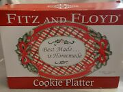 Fitz And Floyd Best Made Is Homemade Holiday Cookie Platter With Box